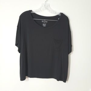 American Eagle soft & sexy cropped pocket tee
